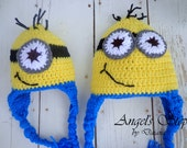 Despicable Me Crocheted Hat (Minion 3-6 months)