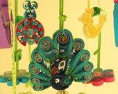 Crib Mobile - Cradle Mobile - Baby Mobile - Peacock Mobile - Ladybug Mobile 15A