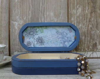 Blue Ombre Style Jewelry Box