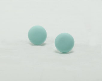 Mint Green Stud Earrings - Mint Green Studs - Matte Mint Green Earrings - Mens Earrings - Mens Studs - Earrings for Men - Matte Mint Studs