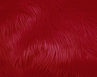 Half Yard Dark Red Shag