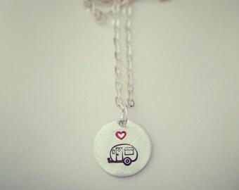 Camper love necklace