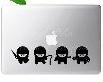 Karate Martial Arts Ninja MMA Mixed Martial Arts TaeKwondo Kenpo Kung Fu Decal Set For Macbook