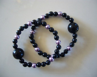 """Queasy Beads Motion Sickness Bracelets in """"Tranquil Night"""""""