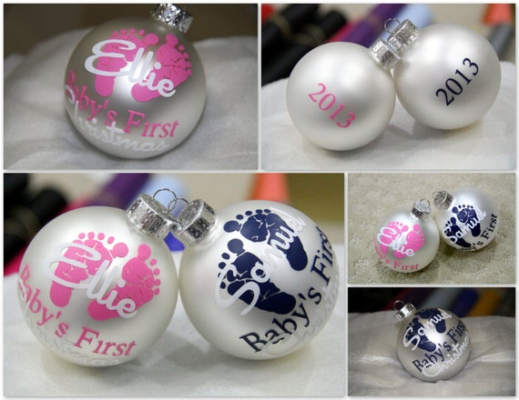 SALE PRICE Baby's First Christmas Ornament by MileHighGifts