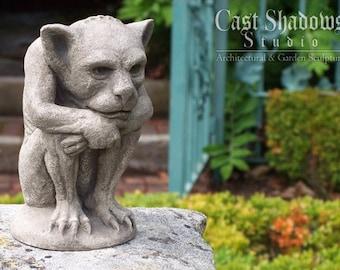 Irving Gargoyle-Gothic Imp-New York-Cast Stone-Garden-Sculpture