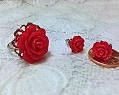 Red Rose Jewelry SET