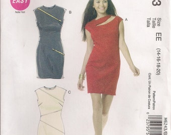 McCall's Sewing Pattern M6243 - Misses' Dresses (6-12 or 14-20)