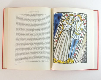 Vintage Art Book - Tales from Shakespeare Charles & Mary Lamb - 1962 First Edition Illustrated Book - Red Hardcover Book Back to School Book