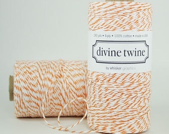 Orange Divine Twine Baker's Twine 240 Yards, Full Spool