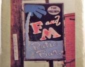 F & M Patio Bar Coaster New Orleans