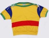 90's Color Block Bateau Knit Top
