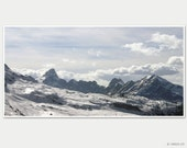 Winter photography 10x5 - Alpine dream - mountain landscape photo poster, skiing in Flaine, French Alps