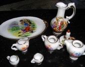 Limoges Miniature Porcelain Tea Set.....X4