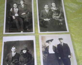 Vintage Photos.....RPPC.......Couples......Contestants For the Newlywed Game