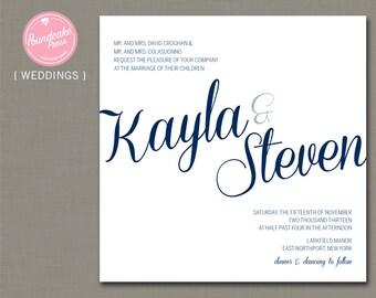 Kayla Wedding Invitation / Script Wedding Invitation