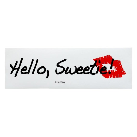 River Song Bumper Sticker 11th Doctor: Hello Sweetie