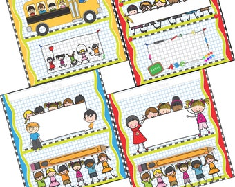 School Wrappers - Printables