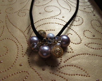 Cluster of Pearls and Gemstone Necklace