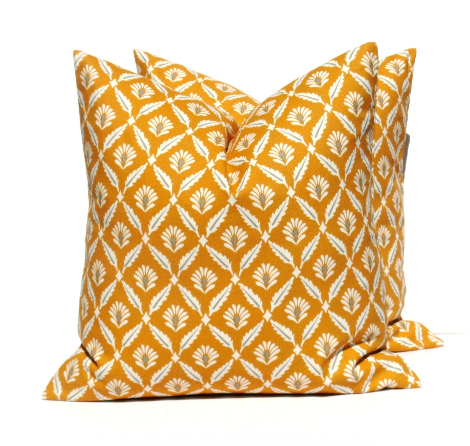 20x20 Throw Pillow Covers Orange Pillow Orange by EastAndNest