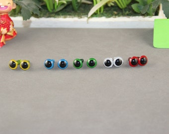 5 pairs 10mm colored eyes plastic safety eyes  for amigurumi