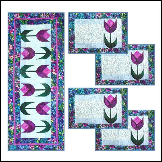 Spring Tulips Table Runner Amp Placemats Pdf Quilt Pattern