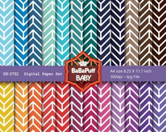 Buy 2 Get 2 Free ---- Arrow Pattern Digital Papers ---- Personal and Small Commercial Use. BB 0782