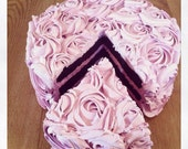 Made to order cake with removable cake slice