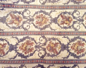 Cotton blend voile printed fabric.