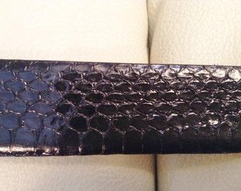 Snakeskin belt.