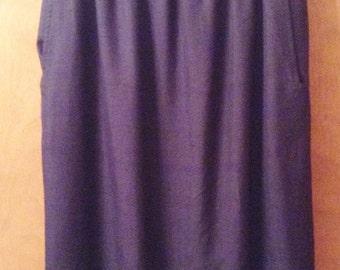 Anne Klein II Silk Navy Skirt from the 90's.