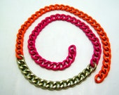 tricolor curb chain - 19 inches