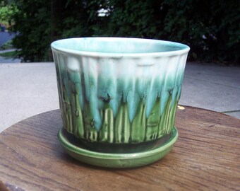 McCoy Bamboo flower pot ,1960
