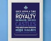 Fairytale Prince Art Print for Nursery or Boy's Room Decor