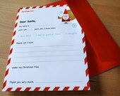 Personalized Letter To Santa or North Pole Template