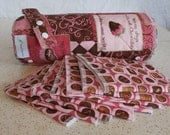 Deluxe Set....READY TO SHIP Roll of 12 Snapping Unpaper Towels and Hanging Strap and 8 table napkins