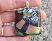 Statement Fused Glass Art Pendant - PiecesofhomeMosaics