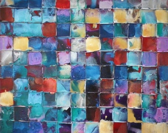Original Huge Art by Caroline Ashwood - Textured and contemporary abstract painting on canvas - FREE SHIPPING