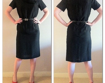 Vintage Circa 1950s black wiggle dress