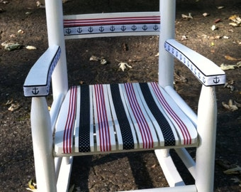 Hand painted children's Rocking Chair
