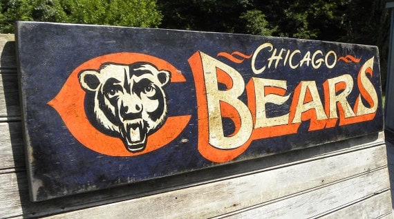 chicago bears signhand paintedoriginalbears football