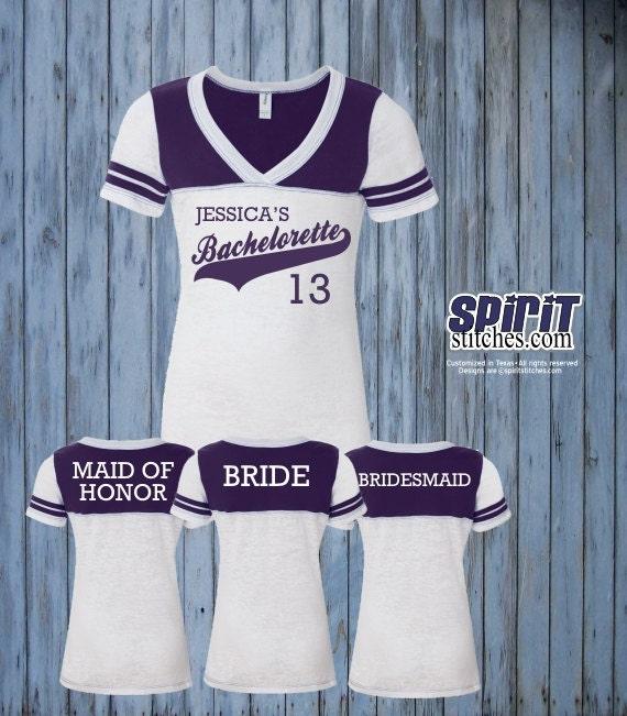 Items Similar To Custom Bachelorette Football Jersey Style