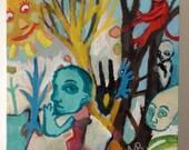 "Original Art Paintings for Inessa ""Woodland 1 & 3"""