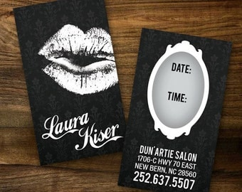 Custom Make-up Artist Business Cards - PROFESSIONALLY printed!