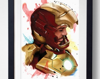 I'm volatile, self-obsessed, and don't play well with others - Iron Man Print