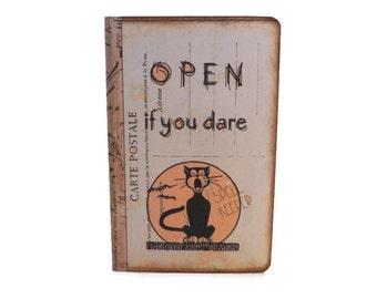 Funny Halloween Journal, Spell Keeper Journal, Black Cat Notebook, Witch's Journal, Mini Spell Book, Halloween Recipe Book, Wiccan Journal