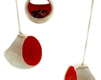 Small Basket Bird Feeder or Hanging Planter