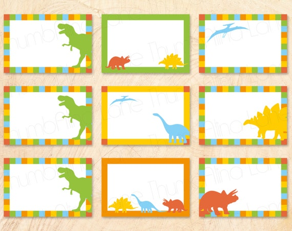 Dinosaur Printable Buffet Cards, Food Tags, Name Tags, INSTANT ...