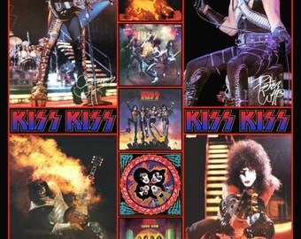 "KISS ""ALIVE II Era"" Poster Collage Stand-Up Collage"