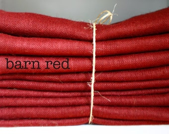 Burlap Table Runner   Color: Barn Red